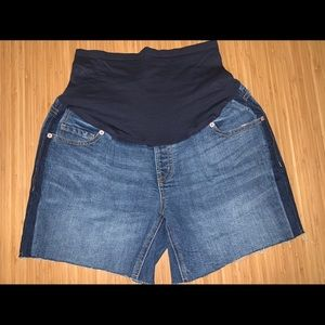 Blue Maternity Jean Shorts